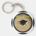 graduation hat, Honour Graduate Basic Round Button Key Ring