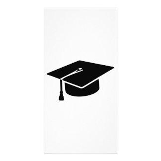 Graduation hat personalised photo card