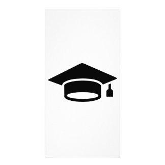 Graduation hat photo card template