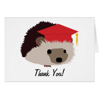 Graduation Hedgehog Thank You Card