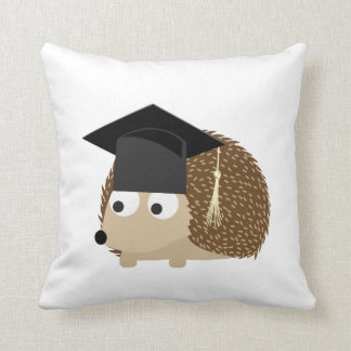 Graduation hedgehog throw pillow