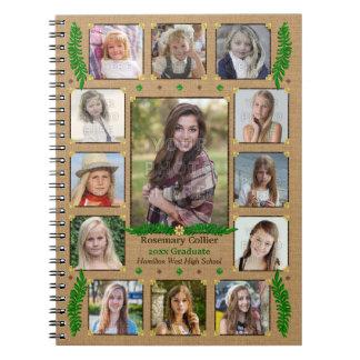 Graduation High School Photo Collage | Burlap Fern Notebooks