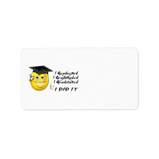 Graduation (I Did It) Smiley Address Label