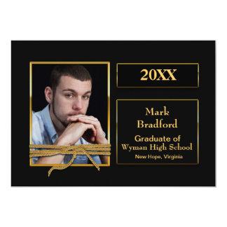 GRADUATION INVITATION - 20XX - PHOTO -BLK/GOLD