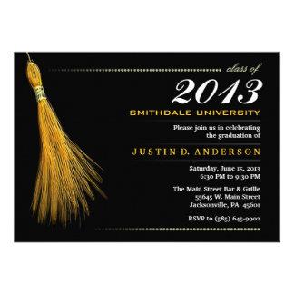 Graduation Invitation - Black & Gold Invite