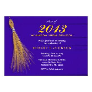 Graduation Invitation - Blue & Gold Invite