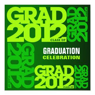 Graduation Invitation Celebrate 2012 Go Green