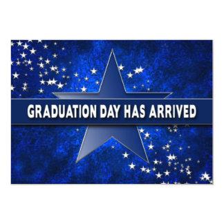 GRADUATION INVITATION - MULTI PURPOSE - BLUE/STARS