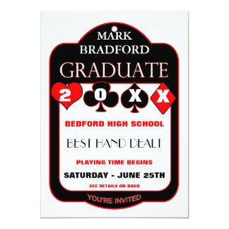 Graduation-Invitation -POKER/CARDS-DESIGN - 20XX Card