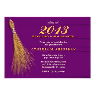Graduation Invitation - Purple & Gold Invite