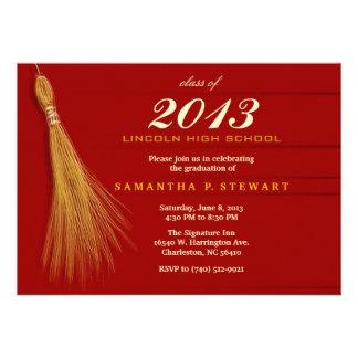 Graduation Invitation - Red & Gold Invite