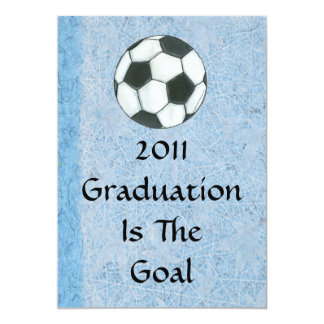 "Graduation Invitation - Soccer Theme 5"" X 7"" Invitation Card"