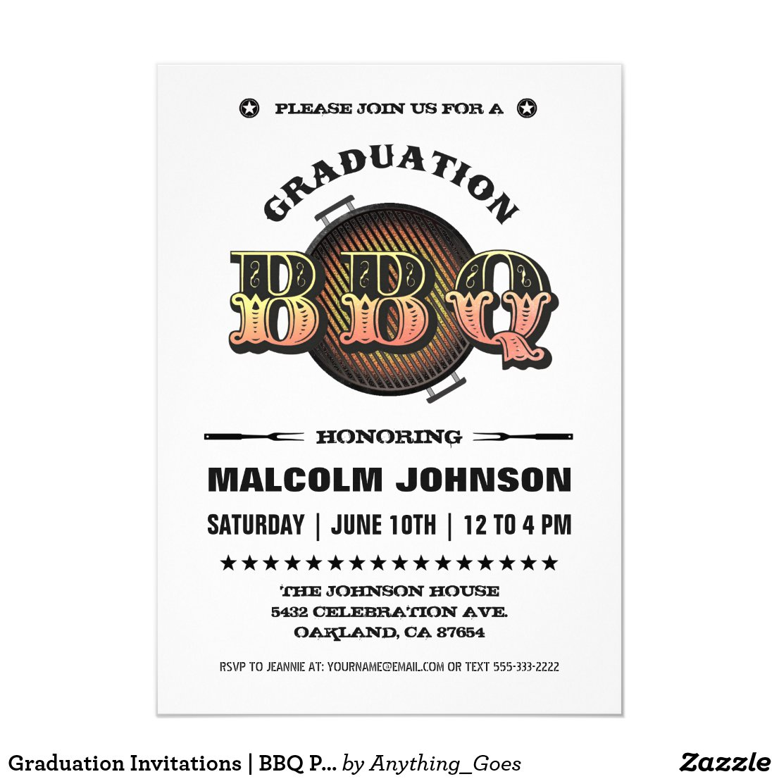 Graduation BBQ Invitations