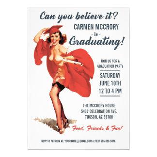 Graduation Invitations | Vintage Pin-Up Girl