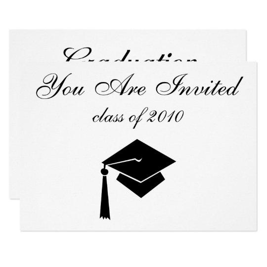 Graduation Invitations with Custom Date