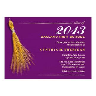 Graduation Invite- Purple & Gold Invite