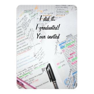 Graduation Invite- Recycled paper 11 Cm X 16 Cm Invitation Card