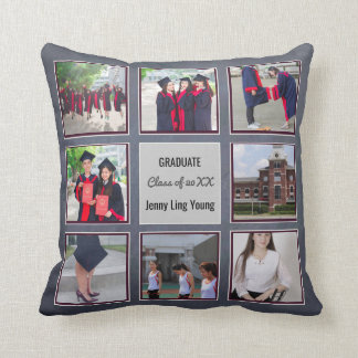 GRADUATION keepsake ADD PHOTOS Wall Art Chalkboard Cushion