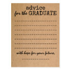 Graduation Kraft Advice Card