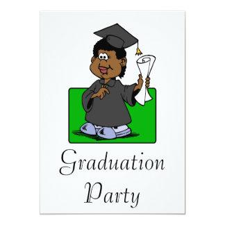 Graduation Lady 13 Cm X 18 Cm Invitation Card
