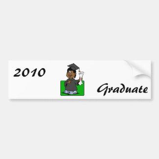 Graduation Lady Car Bumper Sticker