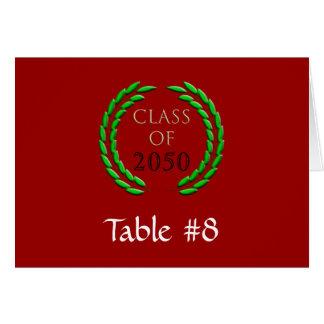 Graduation Laurel Wreath Table Tent Template Note Card