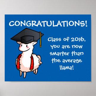 Graduation Llama Poster
