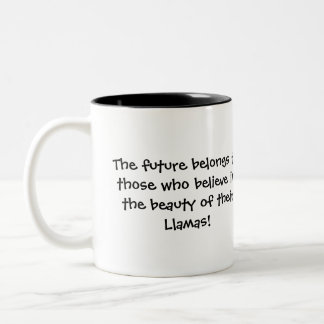 Graduation Llama Two-Tone Coffee Mug