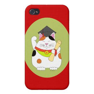 Graduation Maneki Neko Cover For iPhone 4