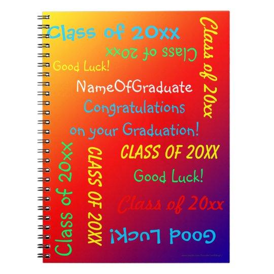 Graduation Memory Book, Vivid Rainbow Notebooks