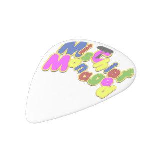 Graduation - Mischief Managed! White Delrin Guitar Pick