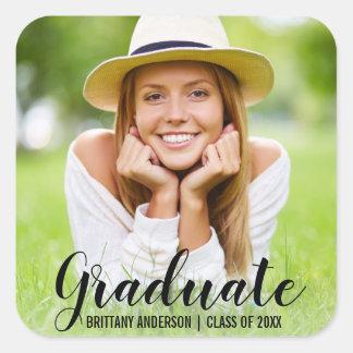 Graduation Modern Photo Name Sticker