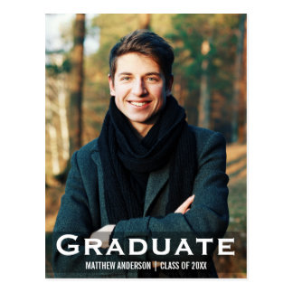 Graduation Modern Photo Postcard L W