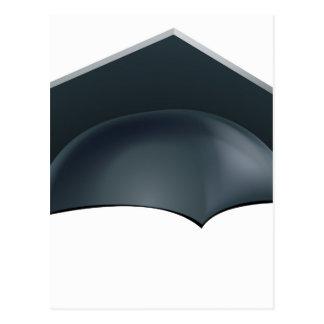 Graduation mortar board hat or cap postcard