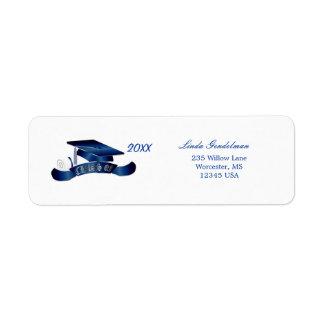 Graduation Mortar cap Avery Label Return Address Label
