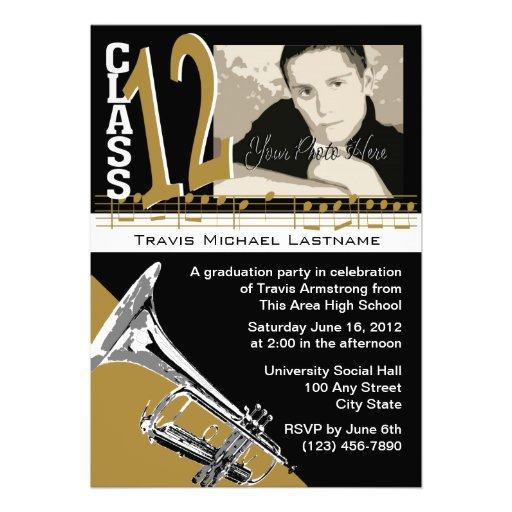 Graduation Music Trumpet Invite