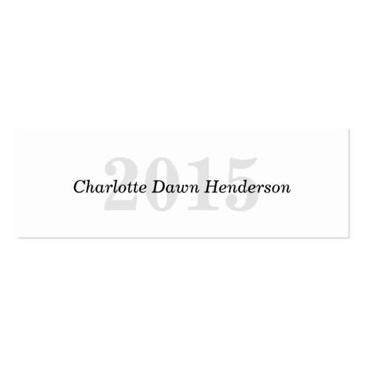 Graduation name card classic enclosure class year business cards