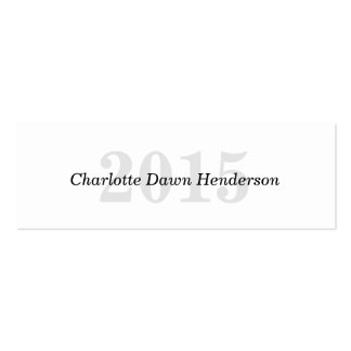 Graduation name card classic enclosure class year pack of skinny business cards