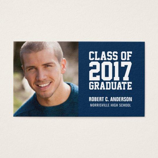Graduation Name Card Photo - Your Colour Choice
