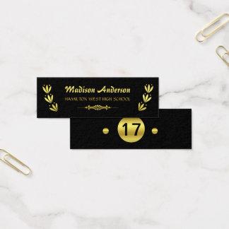 Graduation Name Card Senior Year Insert Gold Black