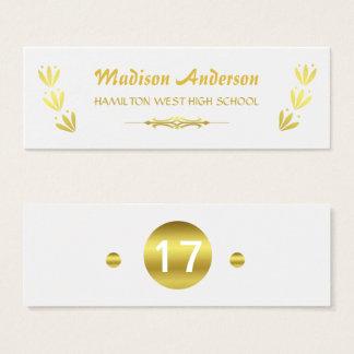 Graduation Name Card Senior Year Insert Gold White
