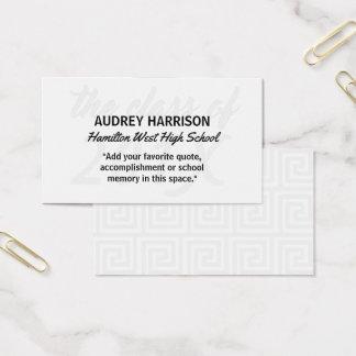 Graduation Name Card Senior Year Inserts Gray Key