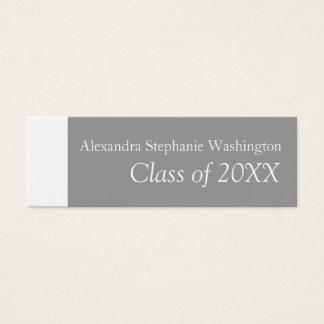 Graduation Name Card Set, White/Gray Keepsake