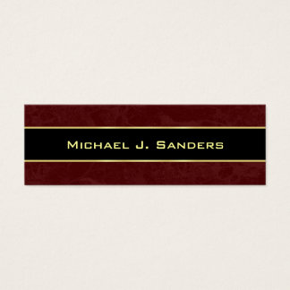 Graduation Name Cards - Burgundy and Black