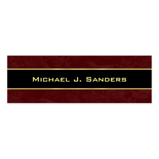 Graduation Name Cards - Burgundy and Black Pack Of Skinny Business Cards