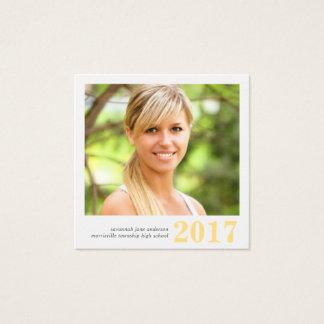 Graduation Name Cards Easy-Edit Photo Square