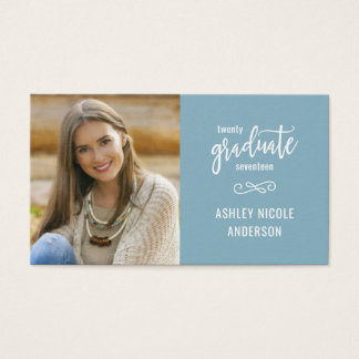 Graduation Name Cards Hand Script with Photo