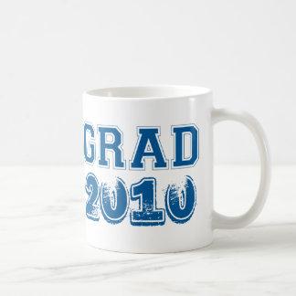 Graduation navy blue class year 2010 custom photo basic white mug