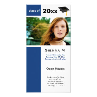 Graduation Open House Blue) Card