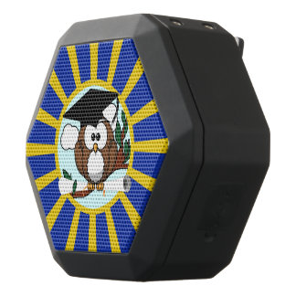 Graduation Owl With Blue And Gold School Colors Black Boombot Rex Bluetooth Speaker